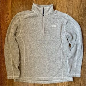 Men's Grey The North Face 1/4 ZIP Sweater